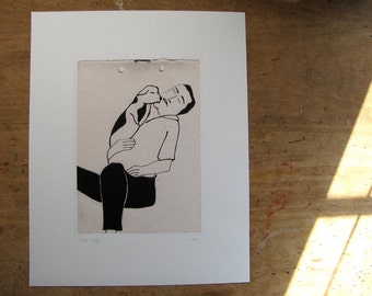 Bill and dog  Art Print
