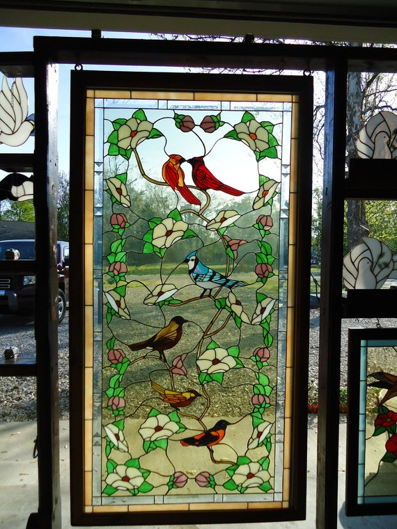 Items Similar To Stained Glass Birds Of America On Etsy