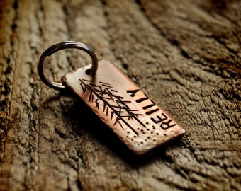 Pet ID Tag, Mammoth Lakes, custom copper tag