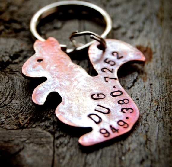 Squirrely Business, Custom Pet ID Tag