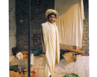 Archival photograph, India, Sadhu, young boy, indian art photo,ethnic art,spiritual, portrait, wall art, home decor