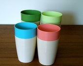 Four Thermo Temp Raffiaware Cups