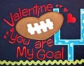 Football Lovers Valentine's Machine Applique Designs