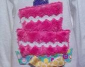 Fun Funky Birthday cake  number 1-9 Machine Applique Design