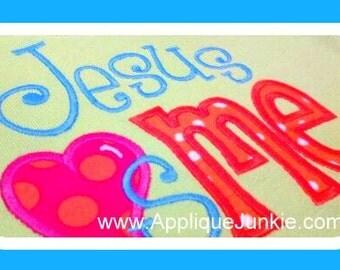 Jesus Love Me machine applique design