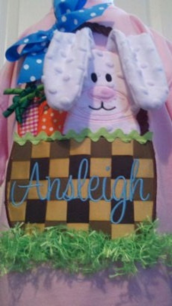 Funky 3D In The Hoop Easter Basket Machine Applique Design