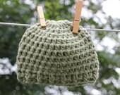 Newborn Hat Green Baby Beanie Take-home & Home birth