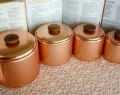 Vintage Copper Mirro Brand Aluminum Canisters by TogetherAgainVintage on Etsy