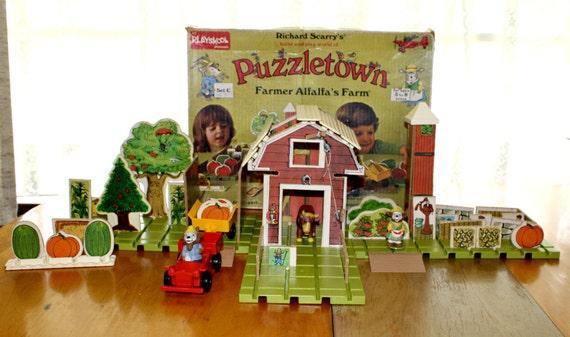 Richard Scarry's Puzzletown..Set C..Alfalfa's Farm.. Playskool..1976