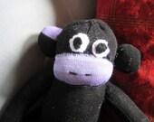 Black and Purple Sock Monkey