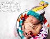 Swirly Top - Newborn Sack Hat - Made to Order