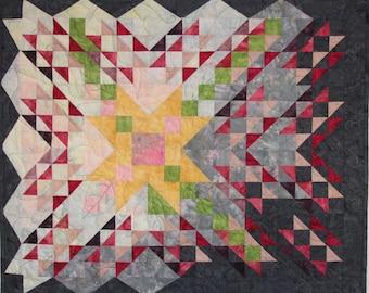 Art Quilt, Wild Mountain Rose