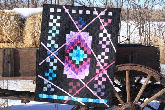 Art Quilt, Mid Winter Sunrise