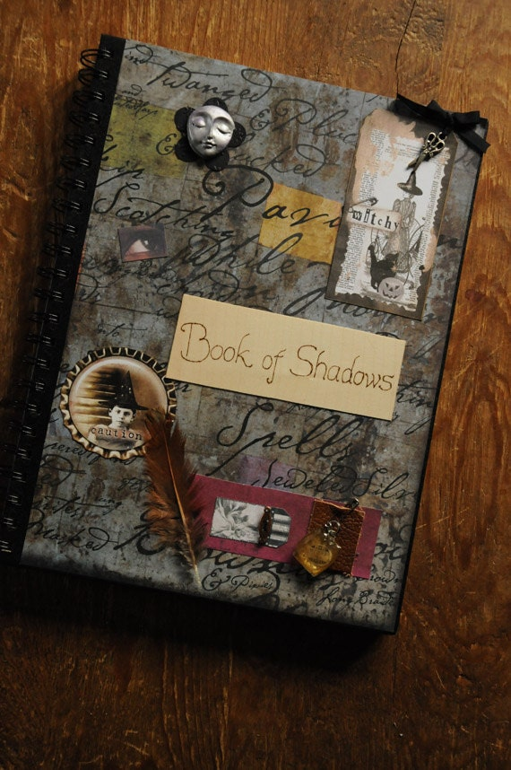 Book Of Shadows Cover Diy : Book of shadows journal sketchbook for pagans witches