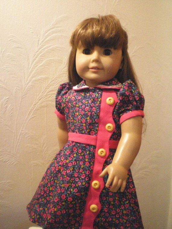 Floral Dress, Vintage Style,  Kit,  American Girl Doll Clothes