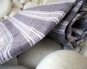 Best Quality,Hand Woven,Light Turkish Cotton Bath Towel or Sarong-Black and White Stripes