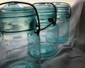Blue Canning Jars A