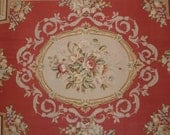 Antique French Aubusson Rug Petit Point