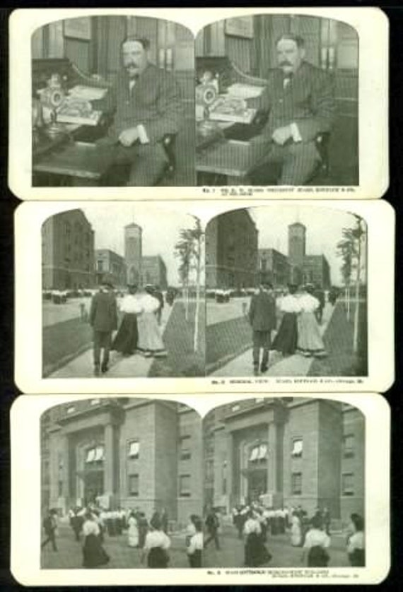 Sears Roebuck 49 Card Stereo View Set Chicago Illinois