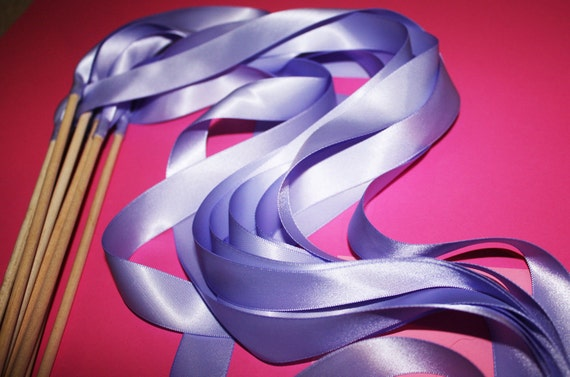 50 Magical Wedding Ribbon Wands IN YOUR COLORS