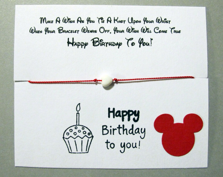 Kristi S Custom 5 Wish Bracelets Disney Font And Mickey