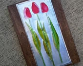 Upcycled Soda Pop Can Recycled Tulips Art
