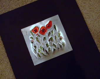 Upcycled Pop Can Poppies Art