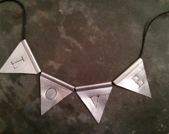 Upcycled Soda Can Metal Art Bunting Recycled Pop Can