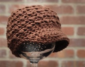 Newborn newsboy hat--ready to ship
