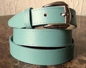 1980s Silver Buckle Turquoise Belt
