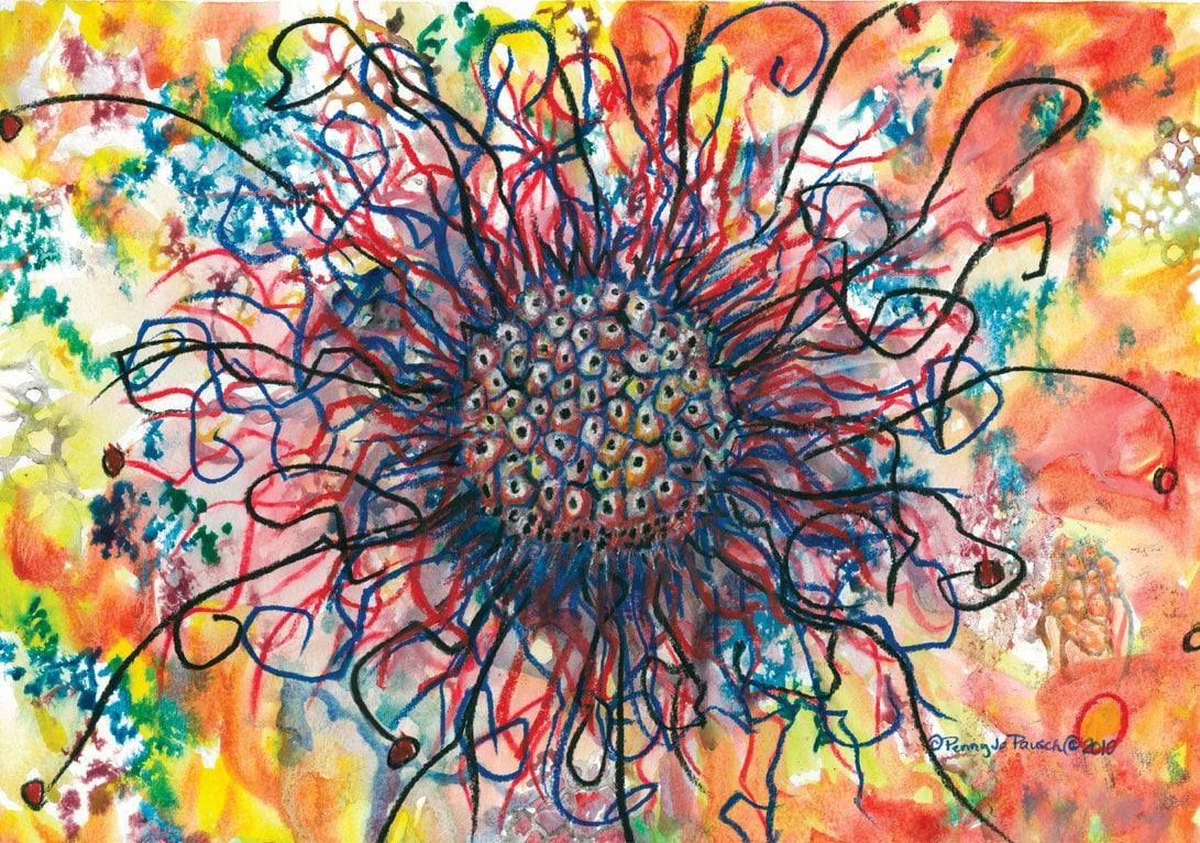 Watercolor paintings original abstract watercolor painting for How to paint abstract with watercolors