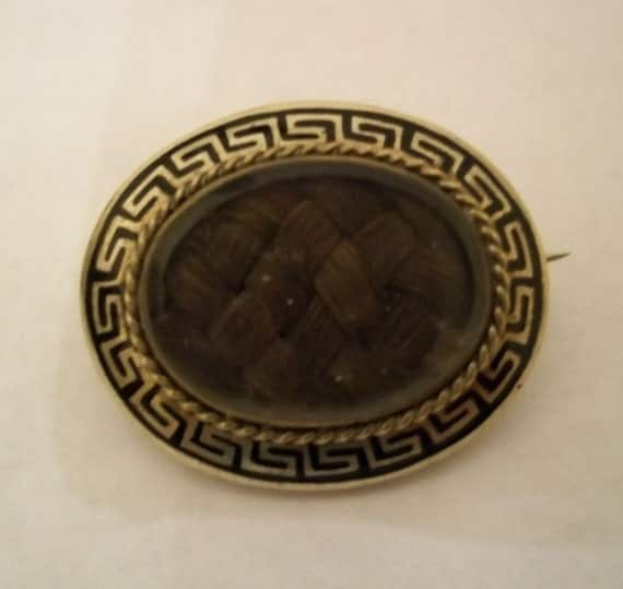 SALE - Antique Gold Hair / Mourning Brooch (circa 1850s)