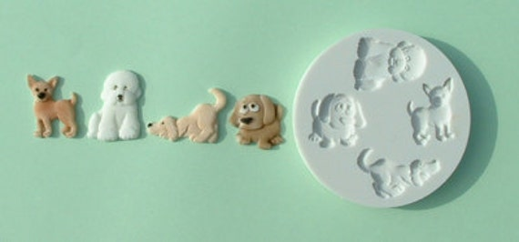 Food Grade Mold (M02) - Animal Design - Flexible Cake Decorating Mold - Reusable - The Art of Cake Decorating