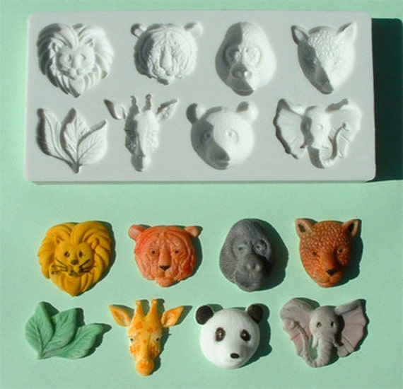 Cake Decorating Animal Molds : Items similar to Food Grade Mold (M21) - Animal Head Theme ...