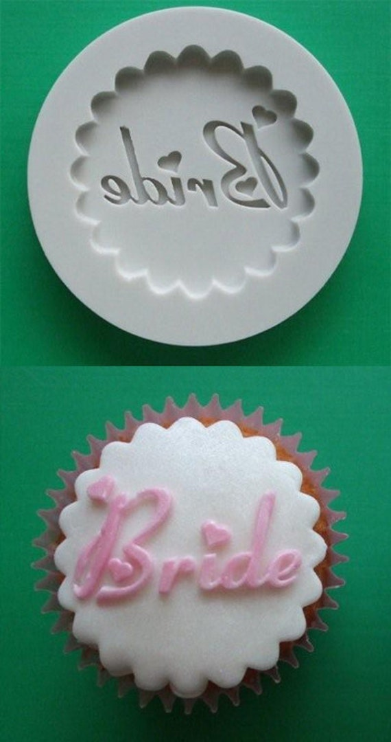 Food Grade Mold (M69) - Bride Decorative Cupcake Topper - Flexible Cupcake Decorating Mold - Reusable - The Art of Cake Dressing