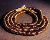 Warm  Rich  Natural  Brass  Heishi  - Medium