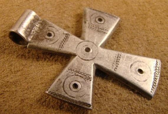 Antique  Ethiopian  Coptic  Cross-  Rustic