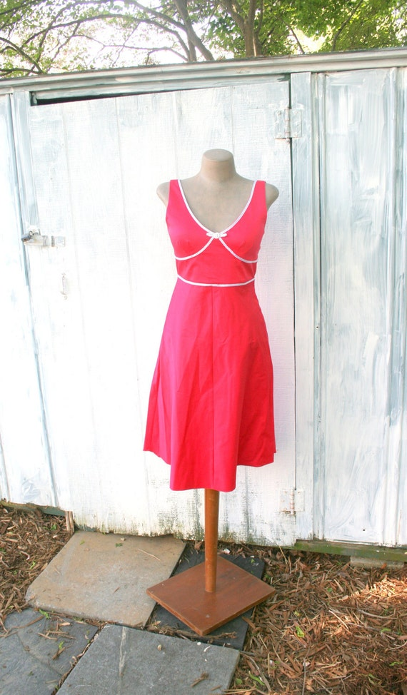 HOT PINK Sleeveless Dress / Fancy Dress /  Small to Medium Dress /  V Neck / Pink and Black / Party Dress