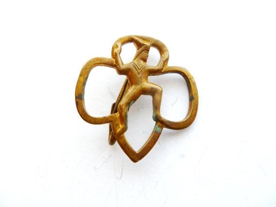Vintage Brownie Girl Scout Pin By Tangerinevintage On Etsy