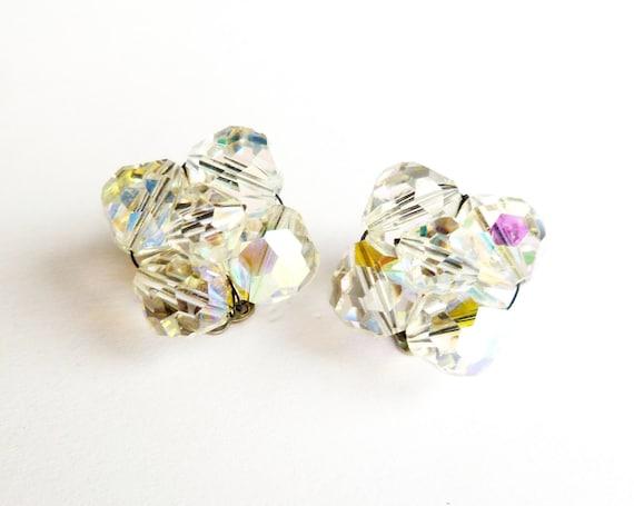 Vintage AB Iridescent Crystal Earrings