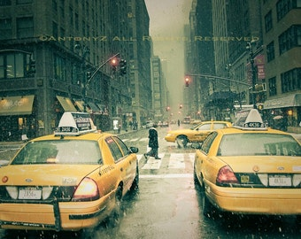 Snow Falling in New York City 8x10 Fine Art Print