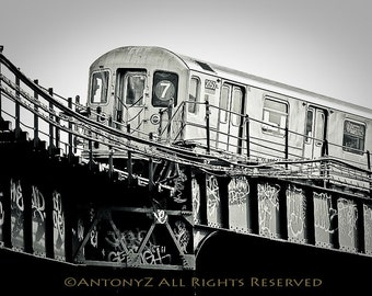 7 Train Subway in New York City 8x10 Fine Art Print