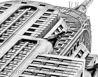 Close Up Chrysler Building in New York City 8x10 Fine Art Print