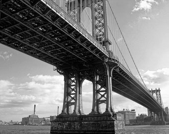 Down Under the Manhattan Bridge in New York City 8x10 Black and White Fine Art Print