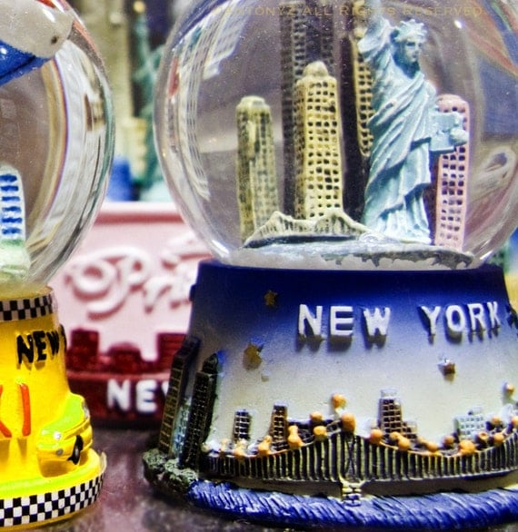 New York City Snowglobes 8x8 Color Fine Art Print