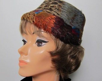Colorful Pheasant Feather Hat