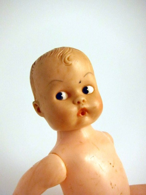 Shabby Old Plastic Baby Doll, Hong Kong