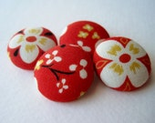 Cherry Blossom Flower Button Set