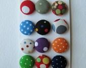 Retro Mod Polka Dot Buttons OR Brads