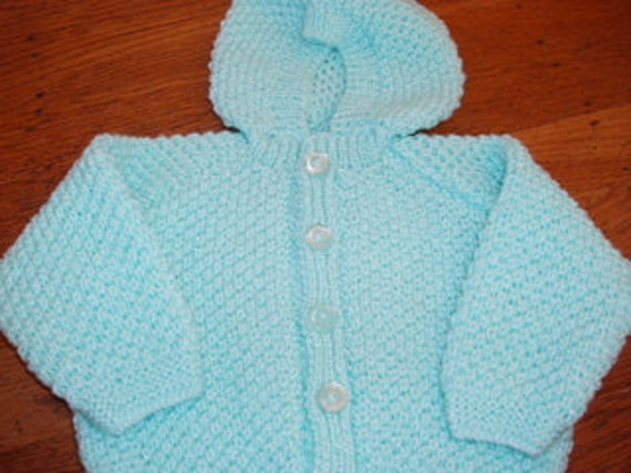 Hand Knitted  Hoodie Jacket Soft and Cozy
